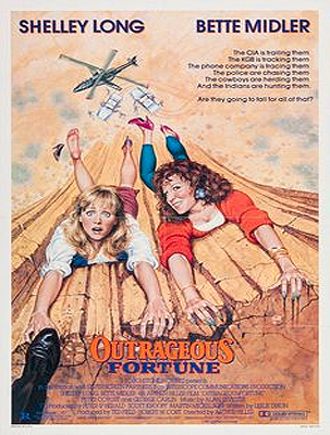 Outrageous Fortune poster art by Robert Tanenbaum